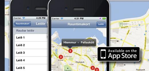 Strætó app líka í iPhone
