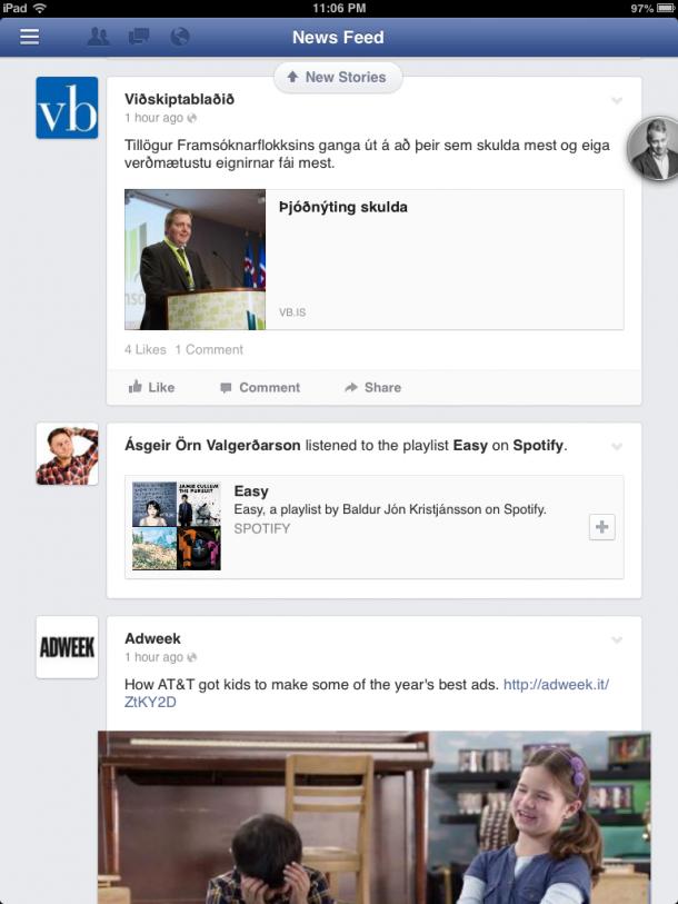 Facebook fyrir iPad
