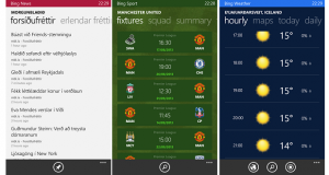 Bing pakki fyrir Windows Phone