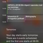 ios 7 Calendar