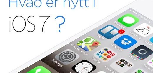Hvað er nýtt í iOS 7?