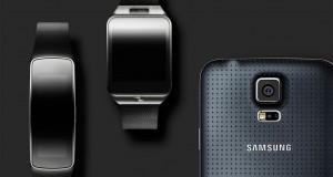 Þetta er Samsung Galaxy S5 og nýju Gear úrin