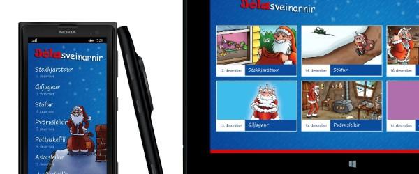 Jólasveinaappið fyrir Windows 8.1 tölvur og Windows Phone-síma