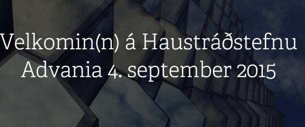 Haustráðstefna Advania 2015